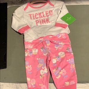 """Kate spade 2 piece """"tickled pink"""" outfit"""